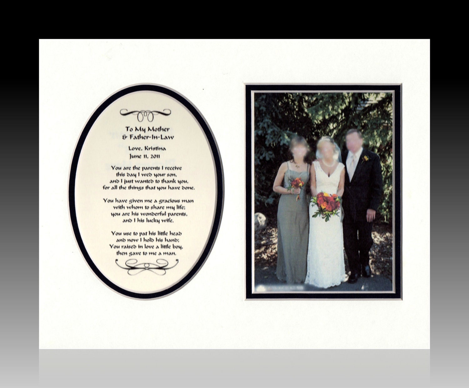 Father In Law Wedding Gifts: Wedding To My Mother And Father-In-Law Personalized Gift