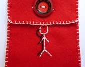 STICKMAN felt iPod Touch/iPhone/Cell phone/Mp3 player Case
