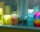 Re-purposed Glass Jar Lantern / Candle Holder