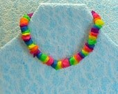 Rainbow necklace:  repurposed balloons