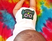 Peace Baby Night Owl Onesie - Purple, Blue & Green