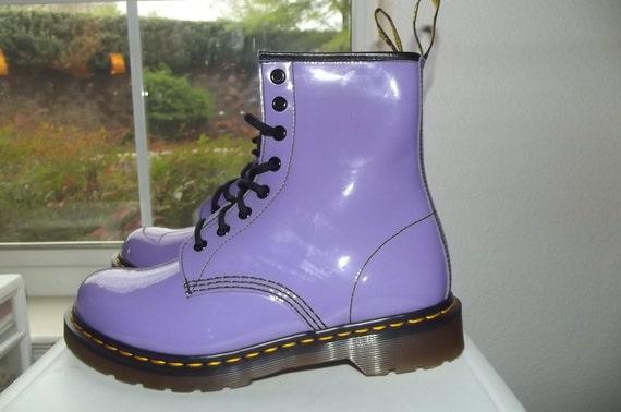 Patent Purple Dr Marten US 8 UK 6