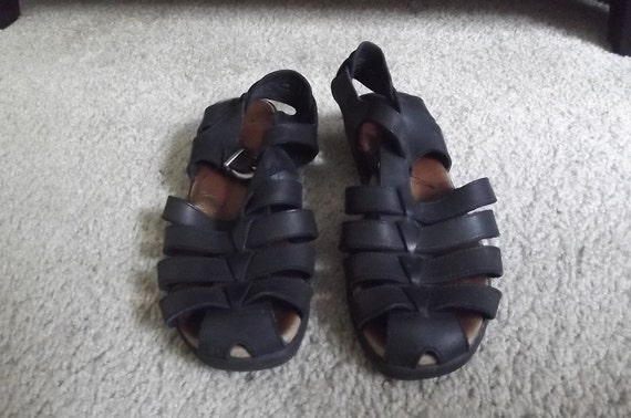 Leather Hush Puppies Sandals Size 8W