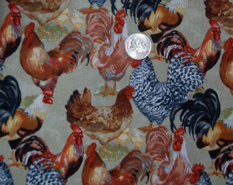 Timeless Treasures fabric ROOSTERS