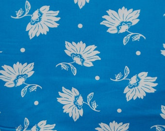 Maywood Studio fabric LUNA Blue and White FLORAL