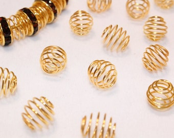 SALE 20pcs Gold Basketball wives earrings / Poparazzi inspired Wire Beads