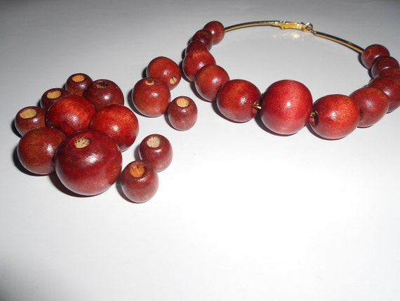 26 pcs Basketball wives earrings / Poparazzi inspired Wooden Bead Set