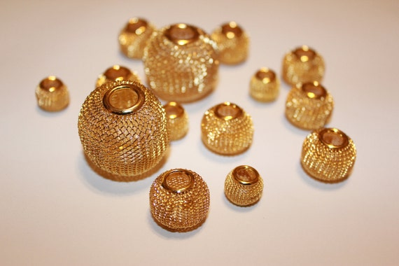 16 pcs Basketball wives earrings / Poparazzi inspired gold mesh balls
