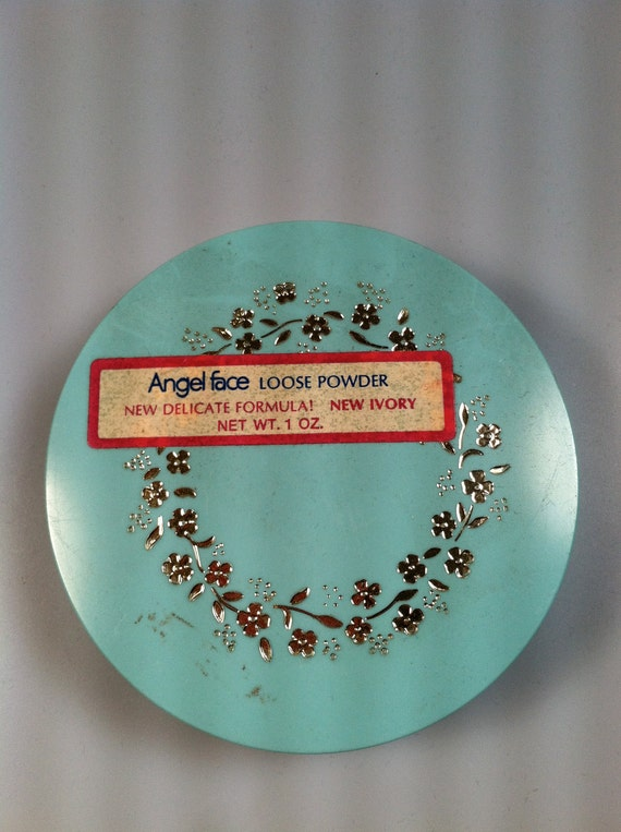 Angel Face Loose Powder Compact 1960's Vintage Cosmetics DEADSTOCK Never Used