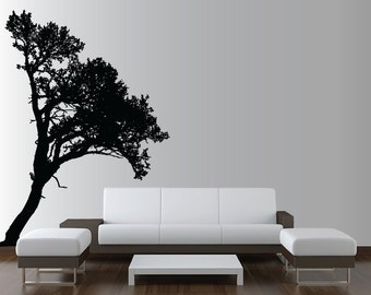 Large Wall Tree Decal Forest Deco Vinyl Sticker Highly Detailed Removable Nursery 1118 (9 feet tall)
