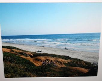 8x10 of Carlsbad and Cliffs: Pacific Ocean, blue, beach, California