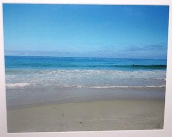 8x10 footprints at the beach in shades of blue: Laguna Beach, California