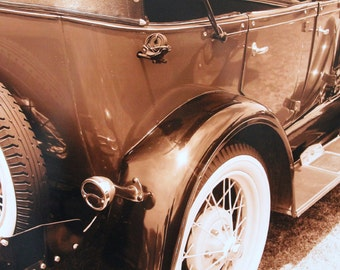 8x10, classic car, 1929 Ford, sepia
