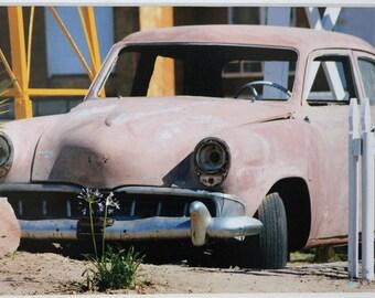 5x7 photograph, vintage car, retro, Route 66