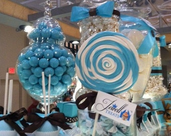 Tiffany Blue & White Lollipop