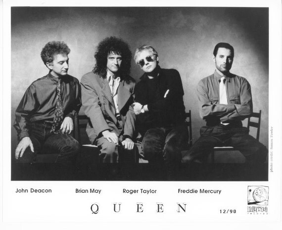 Queen Publicity Photo     8 by 10 inches