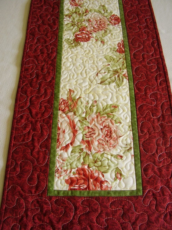 Roses are Red--the border is red on this table runner