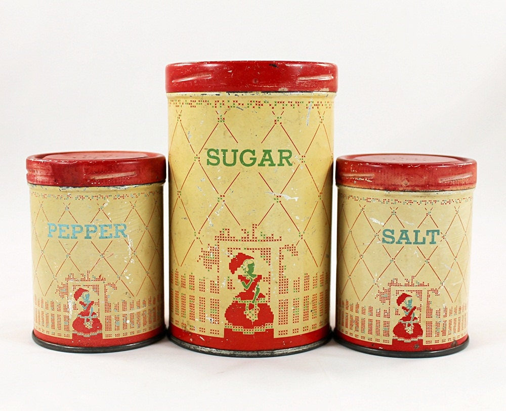 Vintage Home Kitchen Decor Set Of Rustic Sugar By