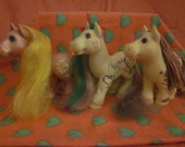 Set of 3 Colorful Cabbage Patch Ponies