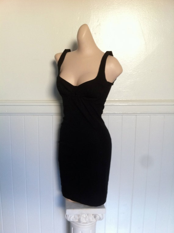 Moschino little black dress with bustier