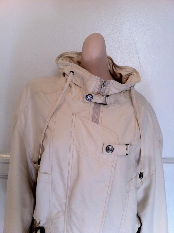 Cream Madeleine Jacket cinch waist and buckles