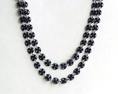 """Black Snap Double String Necklace """"Twice As Nice"""""""