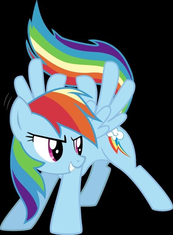 My Little Pony Rainbow Dash vinyl decal