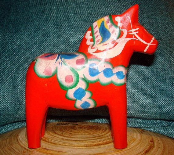 1960 Antique Dala Horse from Sweden
