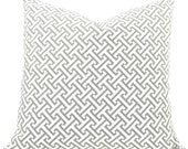 "Waverly Cross Section Decorative Pillow Cover - Gray & White Fabric Both Sides - To cover 16"", 18"" or 20"" Pillow Form"