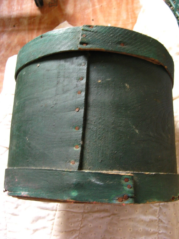 SALE COUPON--Vintage Cheese/Pantry Box in original green paint