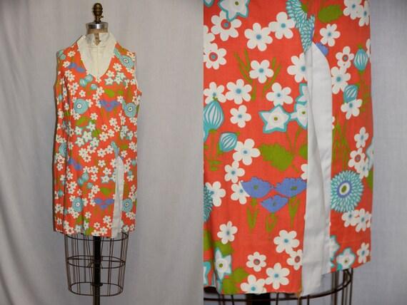 Large Vintage Summer Dress Built in Shorts SOOOOO CUTE