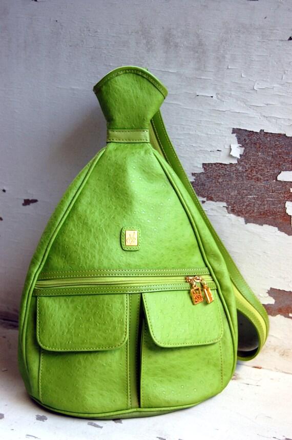 Lime Green Vincent Van Gogh Pear Backpack (Reserved for Angela)