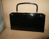 "Vintage 1950's Patent Leather ""Garay"" Clutch/Handbag"