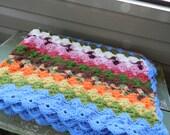 Vintage Hand Crocheted Afghan