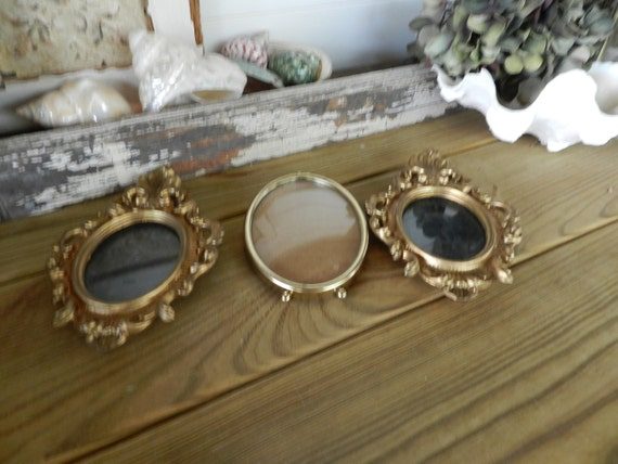 Three Oval Gold Frames/Wall Frames/Picture Frames