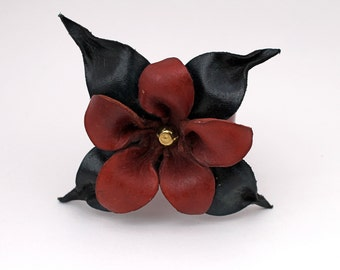 Stunning  Eco Friendly Leather Flower Bracelet
