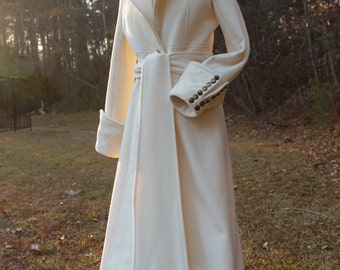 Stunning Handmade Virgin Wool Coat, Maxi Coat, Made to order, custom size