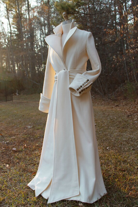 Stunning Handmade Virgin Wool Coat, Maxi Coat, Made to order, custom size