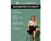 Bachelorette Invitation Pinup Girl Art Ice Cream Parlor