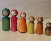 Nature's Autumn Family- Natural Wooden Toy - Set of 6