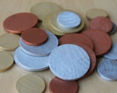 Nature's Shimmering Treasure Coins- LARGE SET - Natural Wooden Toy - Gold/Silver/Bronze