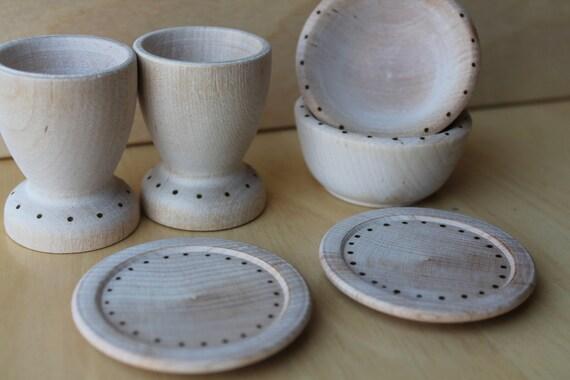 Natural Dish Play Set - Natural Wooden Toy