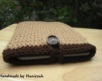 Kindle Cover or Nook Cover, Jacket, Case, Sleeve, Pouch or Bag - Handmade Crochet