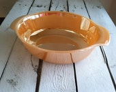 Vintage Peach pearlescent bowl, made in the USA