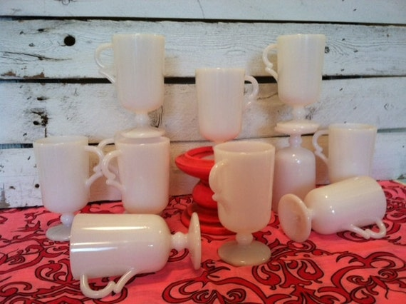 RESERVED FOR SUSAN  do not purchase unless you are Susan Vintage  8 tall Milk glass cups
