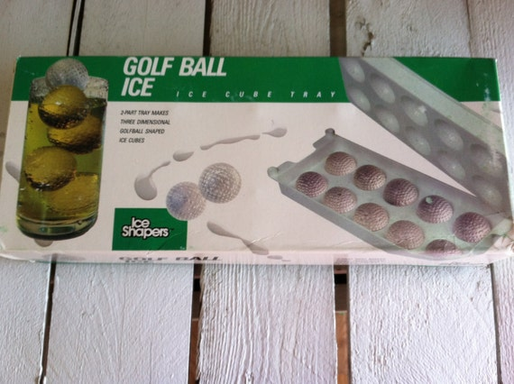 vintage Golf ball ice cube trays how about that for a conversation piece