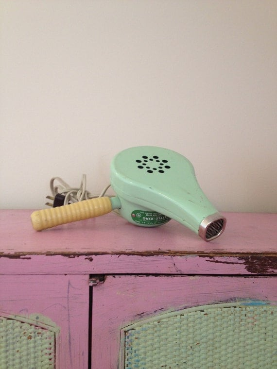 Vintage mint green Hair dryer  Made in the USA by MellaFina