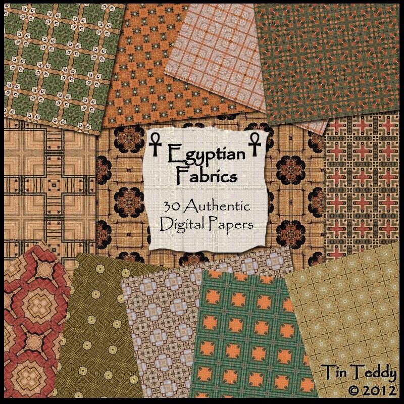 Egyptian Fabrics Digital Papers 30 Authentic Egypt Printable – Egyptian Birthday Cards