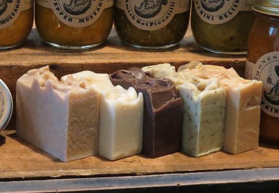 3 Bars of Organic Soaps - All Natural - Premium Organic Oils - Choose from 9 - Honest Amish