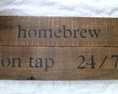 Homebrew Sign  Microbrew  Mancave    Beer sign   Craft beer